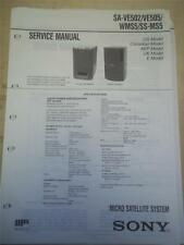 Sony Service Manual~SA-VE502/VE505 Speaker System~Original~Repair