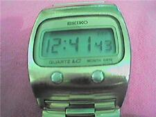 VINTAGE RARE 0439 SEIKO LCD DATE WATCH RUNS 4fix button