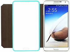 FENICE TOUCH VIEW Samsung Galaxy Note 3 Italian PU Leather Case - Tiffany Blue