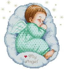 Free S&H Counted aida baby Cross stitch kids kit 103 x 112 stitches KP086