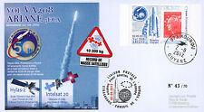 "VA208LT1 FDC KOUROU ""ARIANE 5 Rocket - Flight 208 / HYLAS-2 & INTELSAT 20"" 2012"