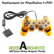 Orange Twin Shock Game Controller Joypad Pad for Sony PS2 Playstation 2