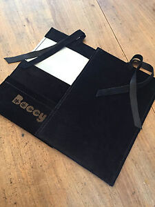 Tobacco Pouch, Baccy Pouch Made from Black Pig Suede leather & Laser etched