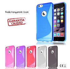 FUNDA CARCASA compatible APPLE IPHONE 6 Y 6+TRANSPARENTE Y FLEXIBLE + PROTECTOR