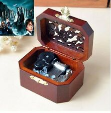 WOODEN OCTAGON CARVING MUSIC BOX : Harry Potter Theme Soundtrack
