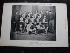 Rare original célèbres footballeurs, #046 gallois équipe de football de 1895 - 96