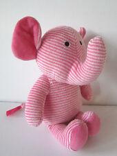 mothercare pink white stripe stripey elephant soft toy plush comforter