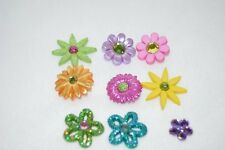 Jesse James Dress It Up Buttons Flower Power  # 402 Sewing Crafts