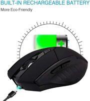 MOUSE GAMING 6TASTI MICRO USB RICARICABILE  BLUETOOTH 1600DPI NOTEBOOK E PC MINI