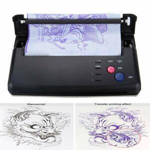 Tattoo Transfer Copier Printer Machine Flash Thermal Stencil Paper Maker Black
