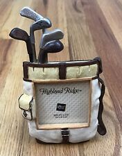 "Russ Small Picture Fran Golf Bag Clubs 2 1/2"" X 2 1/2"" Fathers Day Golfer Gift"