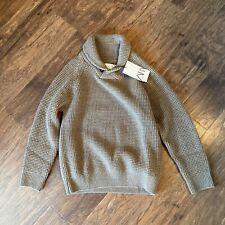 Zara Boys Knit High Collar Sweater Taupe Brown Size 8 NWT (F)