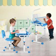 Pink Adjustable Children's Desk Chair Set Child Study Desk Kids Study Table Blue