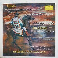 vinyl lp record LISZT  / BRAHMS shura cherkassky - von karajan