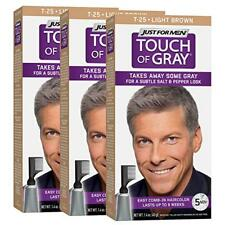 Just For Men Touch Of Gray, Takes Away Some Gray, T25 Light Brown (3 Pack)