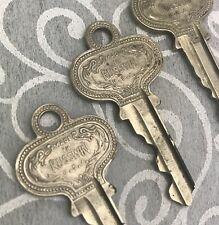 3 RUSSWIN Keys Fancy Vintage Antique Decorative Detailed