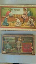 2 ~ Vintage ~ Antique ~ Wooden Blocks ~ Letters Numbers ~ Boxed Play Sets ~ Toys