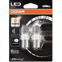 OSRAM LED PY21W 581 12V 7557YE-02B Retrofit Amber BAU15s Bulbs Twin