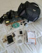 Nikon D3100 Digital SLR Camera with kit 18-55mm lens original owner box papers
