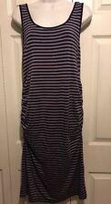 Liz Lange Materinity M purple striped dress new