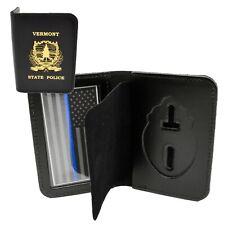 Vermont State Police Officer Badge Case ID Wallet VSP Imprint