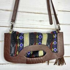 Vieta Clutch Bag Crossbody Colorful Stitch Boho