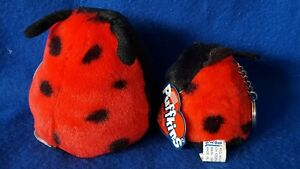 New! Swibco Puffkins DOTTIE Lucky Ladybug Plush & Matching KEYRING Keychain Set