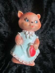VINTAGE COMBEX CREATIONS TOY HOLDING HOT WATER BOTTLE 1960s made in England