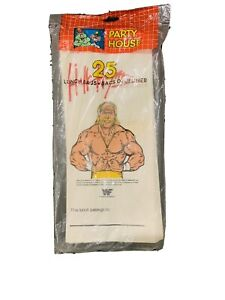 Party House Hulk Hogan 25 Lunch Bags NEW in Package 1991 Collectable WWF