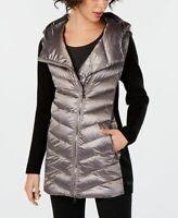 Calvin Klein Womens Performance Asymmetrical Puffer Jacket Liquid Quartz