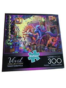 Unicorns 300 Jigsaw Puzzle Vivid Collection  Twilight Marketplace Large Pieces