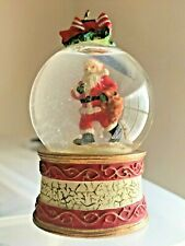 "Unusual Christmas  3"" Snow Globe Santa Carrying Bag Collectible [05]"