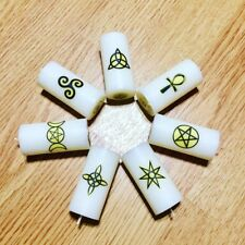 beeswax taper Chakra Candles Chime Spell Pagan Wiccan Altar magic Spiritual