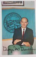 George McGovern Signed Photo Card Senate South Dakota ca 1963 Vintage