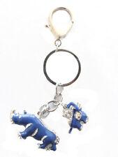 Feng Shui Blue Rhino Amulet Anti Burglary Keychain Cure to Flying Star #7