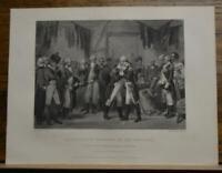 Antique Original 1850's Engraving Washington's Farewell American Revolution
