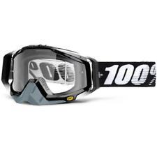 100% MOTOCROSS MTB Occhiali Racecraft ABYSS Black Clear MX FR ENDURO QUAD KTM DH