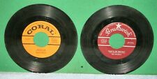 BUDDY HOLLY - PEGGY SUE ON CORAL &  THE CRICKETS - THAT'LL BE THE DAY 45 RPM