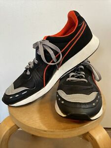 Puma RS100 Aw Men's Size 9 Low Ankle Athletic Shoe Black/Red Pre-owned