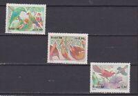 S19198) Brasilien Brazil 1986 MNH Neu Christmas 3v Birds