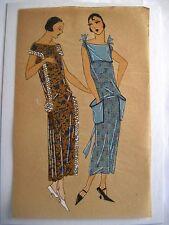 Exceptional Original Illustration of 1920's Women's Fashions - Gouache Paint *