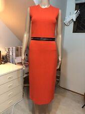 RRP$799 McQ Alexander McQueen Size Small Bodycon Zip Dress Orange Black