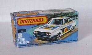 Repro Box Matchbox Superfast Nr. 09 Ford RS 2000