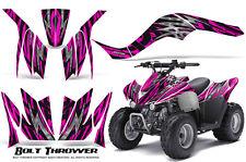 KAWASAKI KFX 90 2007-2012 GRAPHICS KIT CREATORX DECALS BOLT THROWER PINK