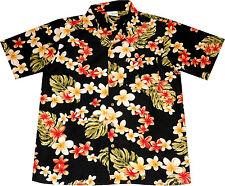 "Chemise Hawaïenne ""Fleurs d'été (noir)"" / M – 6XL / Hawaii Hawaiienne Hawaienne"