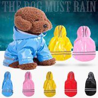 Reflective Hooded Raincoat Waterproof Jacket Outdoor Puppy Pet Rain Apparel