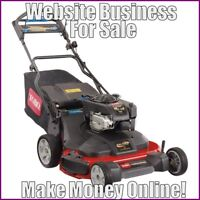 Fully Stocked LAWN MOWER Website Business|FREE Domain|FREE Hosting|FREE Traffic