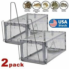 2Pcs Live Humane Cage Trap for Squirrel Chipmunk Rat Mice Rodent Animal Catcher