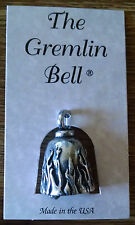 Flame Motorcycle Guardian Angel Harley Good Luck Gremlin Bell  Made in USA
