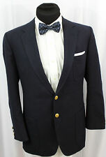Vintage Daks Gold Button Navy Blue Wool Blazer 42 Strandcairn